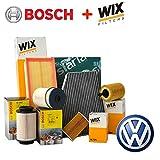 Kit de mantenimiento con 4filtros distintos: 2filtros Wix, filtro de combustible Bosch y habitáculo Siaria (WL7296, 14570700007o 1457070013, WA6781 y V3683)