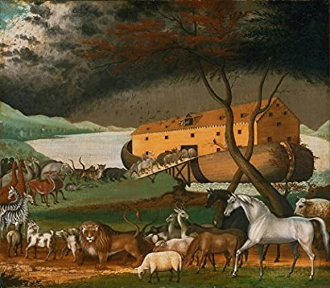 "Noahs Ark - Edward Hicks, American, 1780 - 1849 - Canvas Prints - 32"" by 28"" - Unframed"