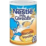 Nestlé Bébé P'tite Céréale Biscuité Vanille - Céréales Déshydratées dès 12 Mois - Boîte de 400g - Lot de 4