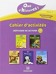 Cahier d'activités : Méthode de lecture CE1, programmes 2008