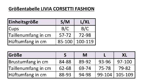 Livia Corsetti Livco elegantes Dessous-Set aus edlem Spitzen-Korsett mit Strumpfhaltern und String in toller Geschenkbox Pink/Schwarz