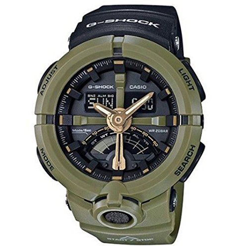Casio CASIO G Shock G-Shock Punching Pattern Series Men's Watch GA-500P-3A Black/Khaki
