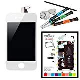 Trop Saint Kit Réparation Ecran LCD Blanc iPhone 4S + Vitre Tactile Blanche + outils + Tapis de Repérage Magnétique