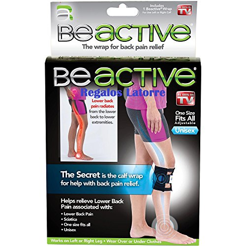 BeActive - Rodillera que alivia las molestias de la espalda y ciática, a través de una almohadilla especial de presión.Vendida y enviada por Regalos Latorre.