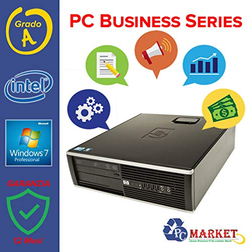 HP - D2PC Fisso Desktop HP 6000 PRO SFF Intel CPU INTEL QUADCORE Q8400 - RAM 8 GB - HD 320 GB - SK VIDEO INTEL HD - WIN 7 PRO 64 BIT - Windows 7 Professional (Ricondizionato)