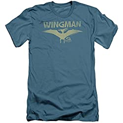 Parque jurásico dinosaurios película Steven Spielberg Wingman adulto Slim camiseta de manga corta Tee