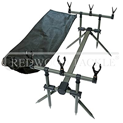 Oakwood Specimen Carp Fishing Goal Post Rod Pod With Bag & Rests by oakwood