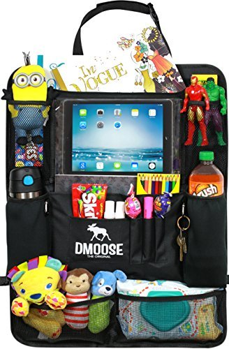 2 Pack Kick Mat Insulated Thermal Pockets Car Backseat Organizer with Tablet Holder for Kids and Toddlers Strong Buckles 24 x 16 Car Organizer Use as Seat Back Protector Large