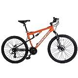 Muddyfox Unisex's T-Blaze Dual Suspension 21 Speed Mountain Bike, Orange, 26-Inch