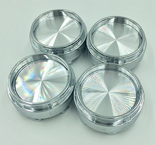 4x Universal Chrome Silver Car Auto Racing Alloy Wheel Center Hub Caps Covers Compatible With Rays