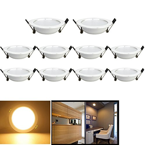 HG 10unidades 3W-Foco LED empotrable (Foco Techo focos de techo Techo para...