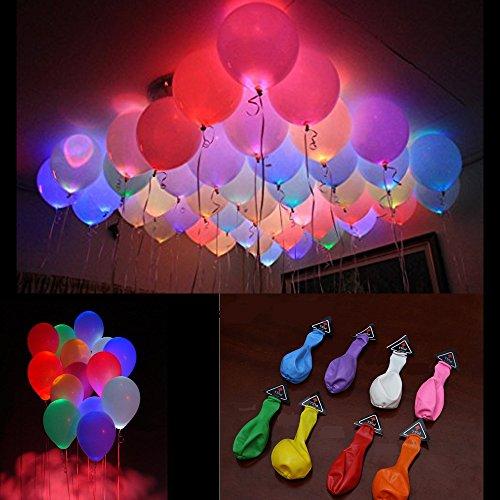 25 Stück Licht Up Led- Leuchtende Luftballons für Weihnachtsfeiern, Hochzeitsfeiern, geburtstag wohnaccessoires kinder - spielzeug, gemischte farbe