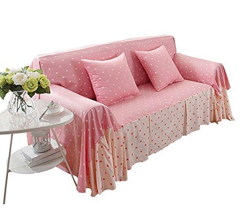 Loveseat Sofa-Möbel-Schutz-Schonbezug, Rosa Punkt (200 * 260cm)