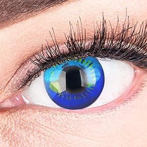 Farbige Kontaktlinsen Circle Lenses Heroes Of Cosplay Stark Deckend Ohne Stärke mit gratis Linsenbehälter