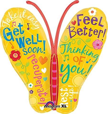 Anagram International Get Well Butterfly Messages Balloon, 25