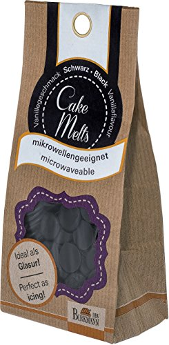 Birkmann 504219 CakeMelts, Fettglasur, schwarz, 5 x 8 x 17 cm, 4 Einheiten (Für Cake Pops Schokolade)