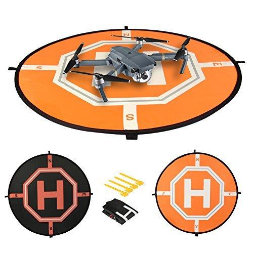 Comecase 31 Landing Pad para DJI Mavic Pro con áreas reflectantes. Incluye 4 clavos de tierra para mantener seguros a los drones RC