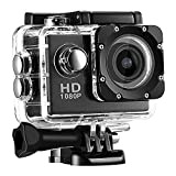 ZYLFN Action Camera Fotocamera Sportiva Fotocamera Subacquea Impermeabile Full HD 1080P con batterie Ricaricabili da 5 MP e Kit di Accessori di Montaggio Fotocamera Subacquea DV