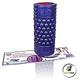Muscle Foam Roller – Schaumstoffrolle zur Selbstmassage und für Pilates, CrossFit, Yoga, Laufen, Physiotherapie, Linderung myofaszialer Schmerzen - 4
