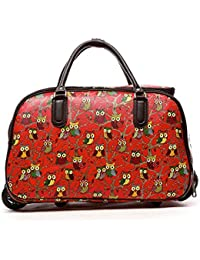 30720bb0f3 LeahWard® Women s Girl s Holdall Faux Leather Luggage Bag Hand Baggage Travel  Suitcase Holiday Bags 01