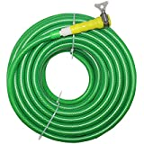 "TechnoCrafts PVC Braided Hose For Floor Care 30 Meter (100 Feet) 1/2"" (0.5 Inch Or 12.5mm) Bore Size - 3 Layered Hose Pipe With 1"" Tap Connector & Butterfly Clamps"