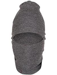 Krystle Men's Wool Monkey Cap (KRY-Men-Monkey-Cap-Grey, Grey, Free Size)