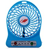 #3: Powerpak 4-Inch Rechargeable Battery USB Mini Fan (Color May Vary)