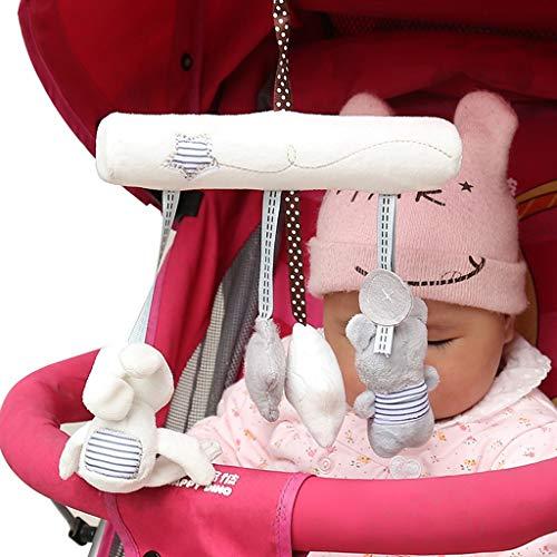 vijTIANDifine PP Baumwolle super weich Baby Kind Kutsche hängend Kaninchen Bett Glocke Musik Sicherheit Sitz Anhänger Plüsch Spielzeug (2 Baby-spielzeug Dollar Unter)