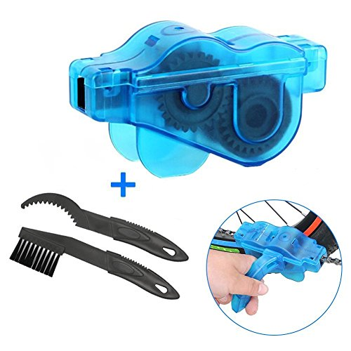 Fahrrad Kettenreinigungsgerät, Goodshop Fahrrad Kettenreiniger Bikebuddy Kettenreinigungsgerät und Zahnkranz Cleaner Gang Reinigung Scrubber Pinsel-Werkzeug - Blau - Pedal Legen