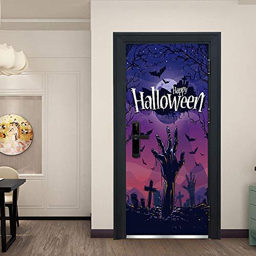 ld 3D Halloween Für Schlafzimmer BadezimmerEp Selbstklebende PVC Wandaufkleber, 77X200 Cm ()