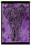 """Colgar de la pared del elefante Impreso de la tapicería de algodón Lanza impresiones Traducido Decoración Tamaño 42 """"x 30"""" pulgadas"""