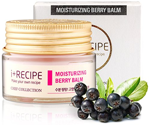 Men Moisture Balm (Moisturizing Berry Balm Night Cream - Daily Hydrating Facial Repair For Men and Women - Moisturizer For Face by I+Recipe - 30 ml)