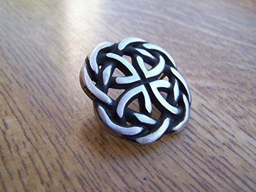 Nudo Celta insignia Pin broche de solapa de regalo de caja libre Reino Unido POST peltre insignia celta Irlandés Escocés galés Pagan
