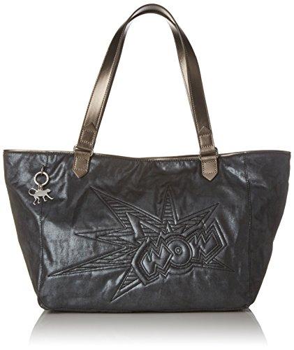 Kipling Lots Of Bag - Borse a secchiello Donna, Grau (Wow Print), 52x28x18 cm (B x H T)