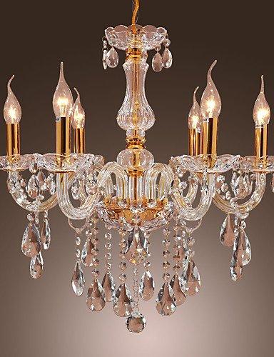 max:60W/Classic Gold Metall Kristall Kronleuchter Lampen Deckenleuchten Anhänger Anhänger Lightss Schlafzimmer/Esszimmer/Arbeitszimmer/Büro/Eintrag, 220-240v #170 -