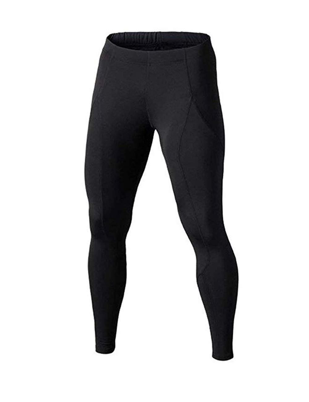 BUYKUD Kids' Boys Long Sleeve Base Layer Compression Underwear Athletic Shirt Tights Top & Bottom Set 3