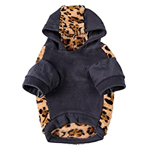 Vêtements Chien Jacket Extérieure Manteau D'hiver à Capuche en Coton pour chien chiot