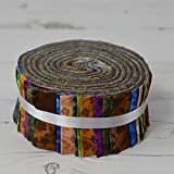 Tessuto Freedom Melody Flower Jelly rotoli 40Strippers strisce 100% cotone cucito patchwork quilting Craft Fabric Bundle ogni striscia 6,3cm larghezza x 106,7cm lunghezza quilting Craft Sewing patchwork Fabric Bundle Made in the UK brand new in presentazione Bundle