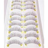 display08 10Pairs Handmade Long False Eyelashes Thick Natural Fake Eye Lashes