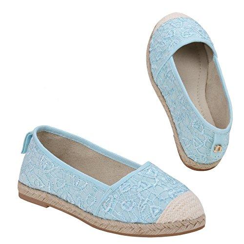 Chaussures pour fille, z-620, ballerines femme Bleu - Hellblau 1