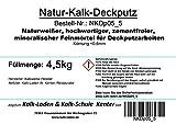 Natur-Kalk-Deckputz. Feiner, naturweißer Oberputz. 4,5 kg 100% Bio
