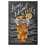 artboxONE Poster 60x40 cm Cocktails Typografie Long Island
