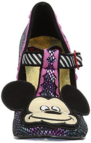 Irregular Choice - I Heart Minnie, Scarpe col tacco Donna Purple (Purple Metallic)
