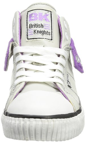 British Knights ROCO B32-3730C Unisex-Kinder Sneaker Grau (ice/purple 15)