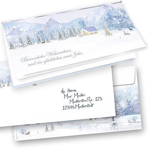 Hochwertige Weihnachtskarten.Tatmotive 04 0113 0235 00010 Weiße Weihnachten Hochwertige