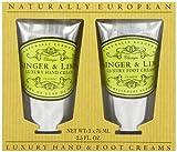 Set Naturally European von Somerset 2 x 75 ml Handcreme und Fußcreme Ingwer Limette