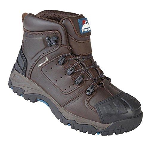 Himalayano 5207S3SRC in pelle marrone impermeabile punta in acciaio sicurezza