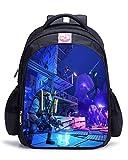 Memoryee Fortnite 3D Game Printing Borsa da scuola per unisex Canvas Backpack Laptop Book Satchel Borsa da viaggio - 15L / 32 x 17 x 42 cm/Fortnite20