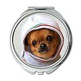 Yanteng Spiegel, Kleiner Spiegel, Terrier Yorkie Hund, Taschenspiegel, 1 X 2X Vergrößerung