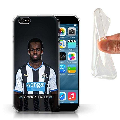 Officiel Newcastle United FC Coque / Etui Gel TPU pour Apple iPhone 6S / Pack 25pcs Design / NUFC Joueur Football 15/16 Collection Tioté